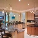 Tủ bếp MDF Laminate kết hợp bàn Bar và bàn đảo  TVB590