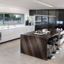 Tủ bếp Acrylic chữ L có đảo   TVB814