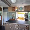 Tủ bếp gỗ Laminate chữ L màu vân gỗ   TVB0887