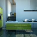 Tủ bếp gỗ công nghiệp – TVN1358