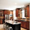 Tủ bếp gỗ xoan đào – TVB502