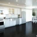 Tủ bếp gỗ tự nhiên Dổi sơn men – TVB430