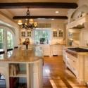 Tủ bếp gỗ Sồi  tự nhiên sơn men   TVB444