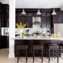 Tủ bếp gỗ tự nhiên theo phong cách châu âu   TVB1246