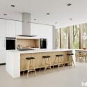 Tủ bếp gỗ công nghiệp – TVN647