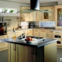 Tủ bếp gỗ Sồi tự nhiên chữ L   TVB0840