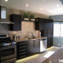 Tủ bếp gỗ Laminate song song  TVB693