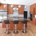Tủ bếp gỗ Sồi tự nhiên hình chữ I có đảo   TVB 1201