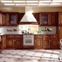 Tủ bếp gỗ Căm Xe chữ L   TVB 1238