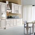 Tủ bếp gỗ Sồi sơn men trắng chữ I   TVB0907