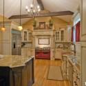 Tủ bếp gỗ Sồi Mỹ chữ U   TVB0845