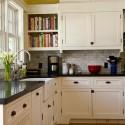 Tủ bếp gỗ tự nhiên sơn men trắng – TVB657