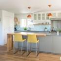 Tủ bếp gỗ tự nhiên + công nghiệp – TVN1164