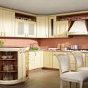 Tủ bếp gỗ Sồi sơn men trắng   TVB570