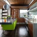 Tủ bếp gỗ MDF Acrylic giả vân gỗ– TVB538