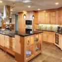 Tủ bếp gỗ Sồi Nga – TVB295