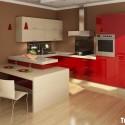 Tủ bếp gỗ công nghiệp – TVN1132