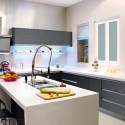 Tủ bếp gỗ Laminate có bàn đảo    – TVB408