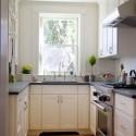 Tủ bếp gỗ tự nhiên sơn men trắng – TVB554