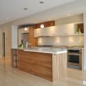 Tủ bếp gỗ Laminate dạng chữ I song song   TVB1247