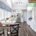 Tủ bếp gỗ tự nhiên  công nghiệp – TVN989