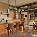 Tủ bếp gỗ tự nhiên công nghiệp – TVN1120