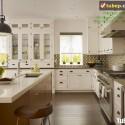 Tủ bếp gỗ tự nhiên  Công nghiệp – TVN1029