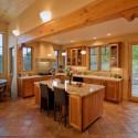 Tủ bếp gỗ Dổi có bàn đảo– TVB294