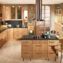 Tủ bếp gỗ Dỗi có đảo   TVB669