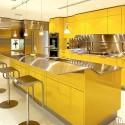 Tủ bếp Acrylic có đảo   TVB0969