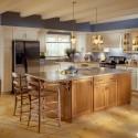 Tủ bếp gỗ Sồi Mỹ có đảo   TVB691