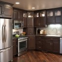 Tủ bếp gỗ sồi sơn men   TVB0973