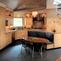 Tủ bếp Laminate màu vân gỗ sáng, có đảo   TVB 1071