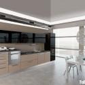 Tủ bếp gỗ công nghiệp laminate, chữ I   TVB 1058