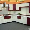 Tủ bếp gỗ xoan đào, chữ L   TVB 1062