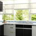 Tủ bếp Acrylic trắng kết hợp đen chữ L   TVB1223