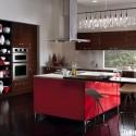 Tủ bếp Acrylic có đảo   TVB746