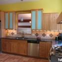 Tủ bếp gỗ tự nhiên Xoan Đào – TVB393
