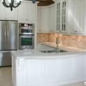 Tủ bếp gỗ sồi sơn men trắng   TVB794