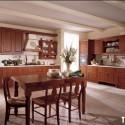 Tủ bếp gỗ Căm Xe chữ L   TVB792
