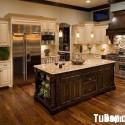 Tủ bếp gỗ tự nhiên mang phong cách cổ điển – TVB684