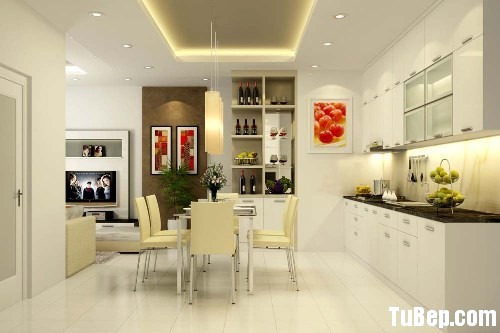 32ff953232hữ I.jpg Tủ bếp gỗ Acrylic màu trắng chữ I, có bàn đảo  TVB 1242