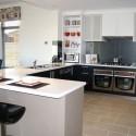 Tủ bếp Laminate màu xám,chữ G   TVB 1096