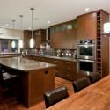 Tủ bếp gỗ tự nhiên Căm Xe – TVB342
