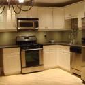 Tủ bếp gỗ tự nhiên Sồi Mỹ sơn men – TVB397