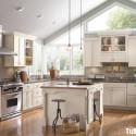 Tủ bếp gỗ Sồi  tự nhiên sơn men   TVB513