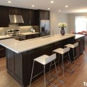 Tủ bếp gỗ xoan đào sơn PU – TVB499