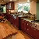 Nội thất Tủ Bếp   Tủ bếp gỗ tự nhiên – TVN345