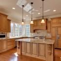 Tủ bếp gỗ Sồi Nga – TVB579
