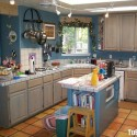 Tủ bếp gỗ tự nhiên – TVN892
